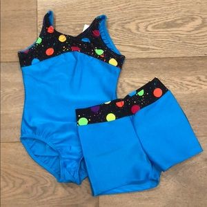 Other - NWT reflectionz leotard and short dance gymnastic